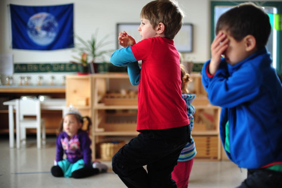 kids yoga Eagles Pose
