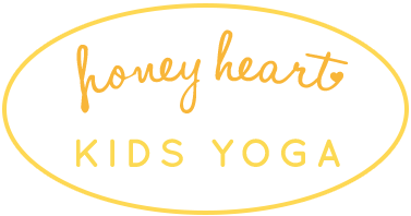 Honey Heart Kids Yoga Retina Logo